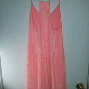 Summertime Coral & White dress